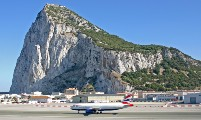 Crew Changes Airplane In Gibraltar Airport