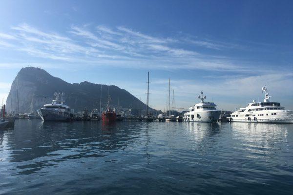 Yatchs In Gibraltar Port